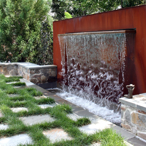 World design encomendas home made garden fountain for Waterfall garden feature