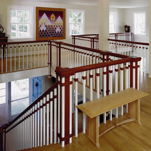 Beautiful Interior Staircase Ideas And Newel Post Designs: Earthwood Builders Inc