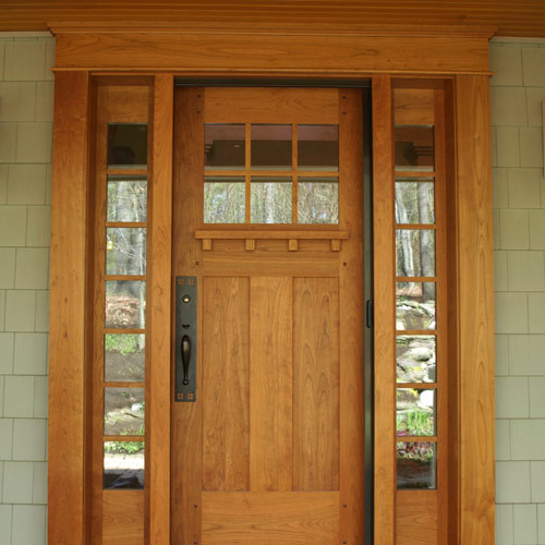 Craftsman style and pictures on pinterest Craftsman style wood interior doors